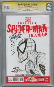 Superior Spider-man Team-up #1 CGC 9.8 Signature Series  Signed Stan Lee Neal Adams Sketch Marvel